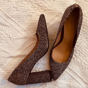 Banana Republic Shoes - Banana Republic black & cream real fur shoes